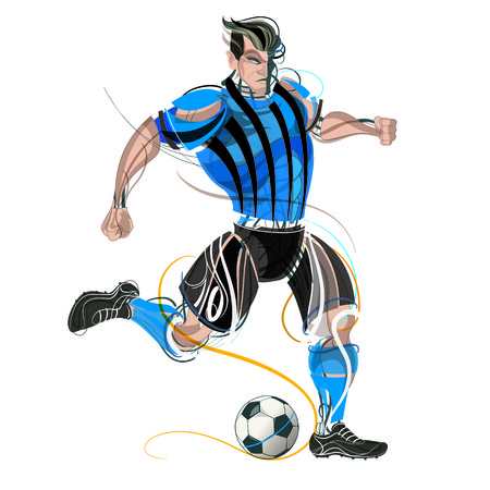 Soccer player with graphic trails