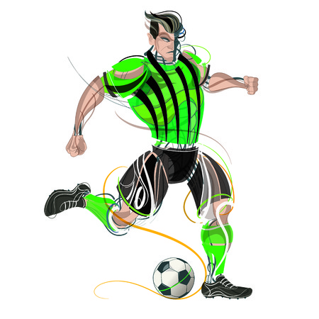 Soccer player geometric Stock Vector - 102303173