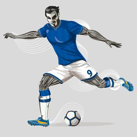 Soccer player geometric  Ilustração
