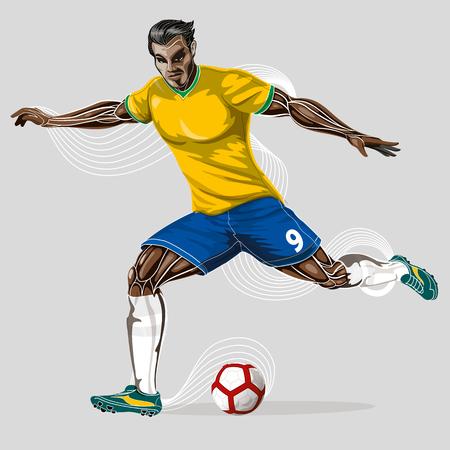 Soccer player geometric Stock Vector - 102321910