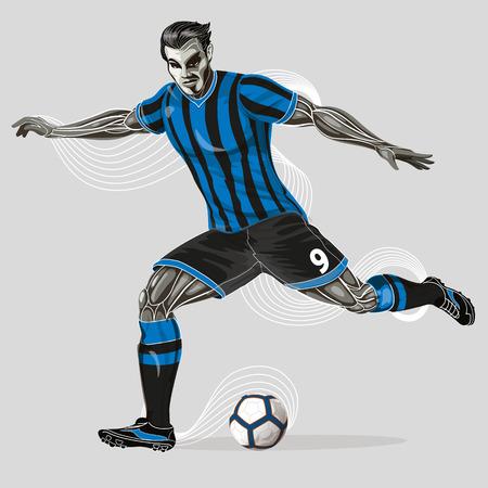 Soccer player geometric Stock Vector - 102413861