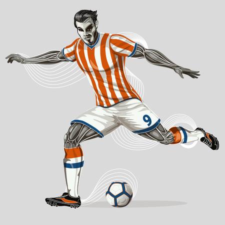 Soccer player geometric  Иллюстрация
