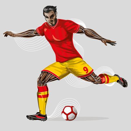Soccer player geometric  Illustration