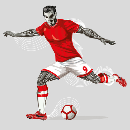 Soccer player geometric Stock Vector - 102682702