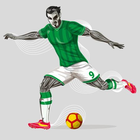 Soccer player geometric