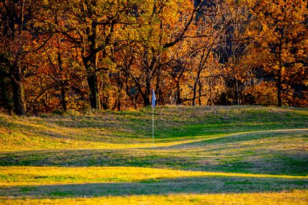 Golf course in the fall Stok Fotoğraf