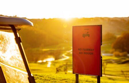 Golf course sign Stockfoto