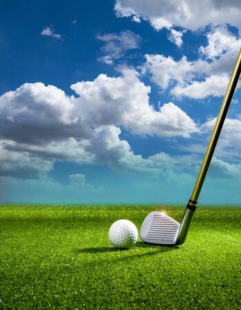 golf ball with golf club