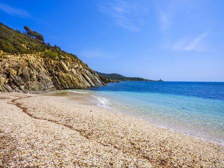Punta Libeccio Cala Angioni beach, Domus de Maria, Sardinia, Italy Stock fotó