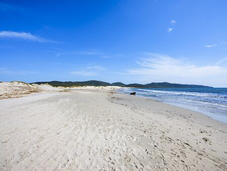 White sand dunes in Sant'Anna Arresi in Sardinia