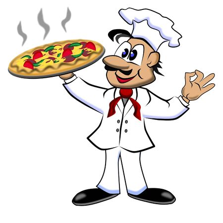 supplier: Waiter with pizza Stock Photo