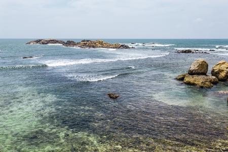 Beautiful landscape tropical rocky beach