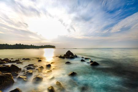 fantastic beautiful morning on the beach. landscape. Reklamní fotografie - 84156021