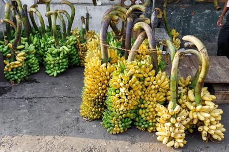 many bananas on the street market Stock Photo