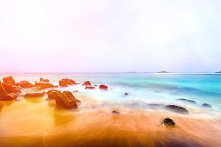 Beautiful landscape, tropical rocky beach