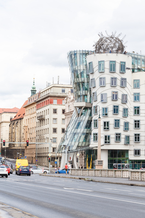 Prague, Czech Republic, Europe - July 11, 2017: Dancing house or Fred and Ginger building in Prague, Czech Republic.