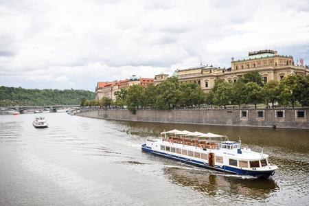 Prague, Czech Republic, Europe - July 12, 2017: panorama cityscape in Prague, Czech Republic Editorial