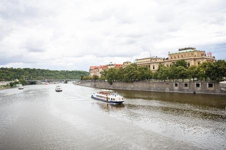Panorama cityscape in Prague, Czech Republic Editorial