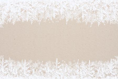 Christmas background, frame snowflakes Stock Photo - 92206647