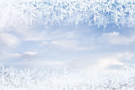 Christmas background, frame snowflakes Stock Photo - 92222473