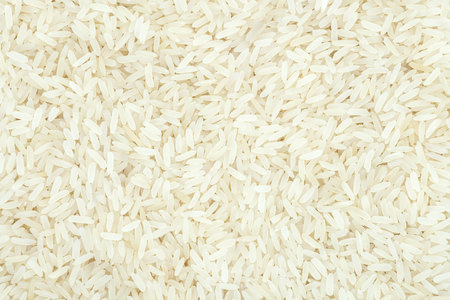 White rice steamed, close up. Healthy nutrition for weight loss and controls diseases occurrence Reklamní fotografie