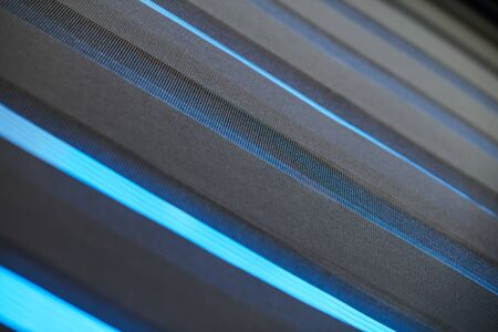 Office blinds. Modern fabric blinds. Office meeting room lighting range control. 写真素材