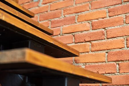 Stairs in loft apartment. Staircase without railing. Modern hipster style attic loft apartment details.