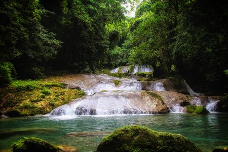 Jamaica boasts white sand beaches, famous scenic waterfalls, blue lagoons and the crystal clear Caribbean Sea