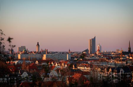 A beautiful view in Leipzig in the evening