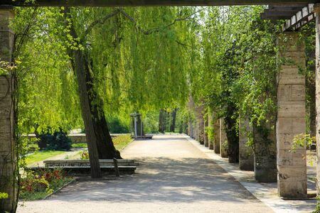 view of a park landscape in the center of Leipzig,Saxony in Germany Standard-Bild