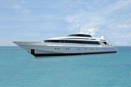 Luxury Motor Yacht Stok Fotoğraf