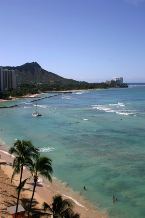 diamond head: Hawaii Diamond Head Oahu Stock Photo