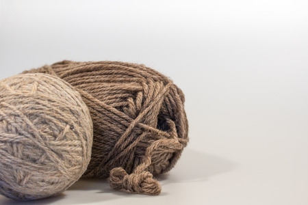 landscape format: Dryer Ball and Wool Yarn in Landscape Format with White Space