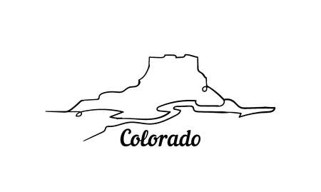 Colorado one line style vector illustration.