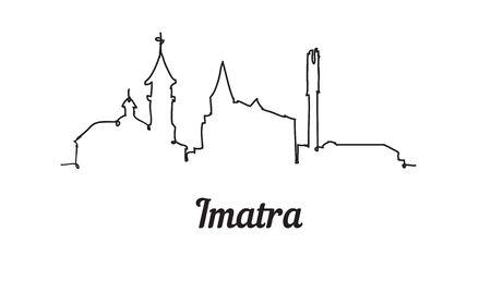 One line style Imatra skyline. Simple modern minimalistic style vector.