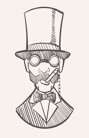 A gentleman in a top hat with a ciga