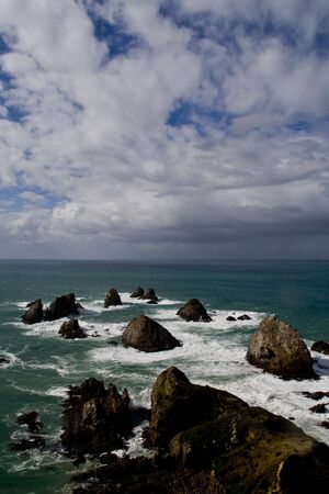 Rough Coast in New Zealand - Nugget Point