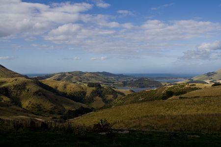 Rural Landscape in New Zealand, near Dunedin photo