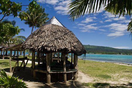 Paradise Island in the south sea, samoa.