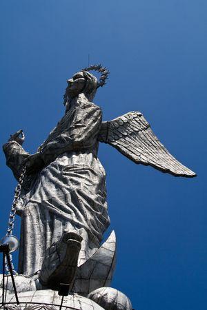 gloriole: la Virgen de Quito, Ecuador