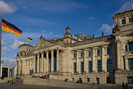 The seat of Germanys government, the Reichstag (Parliament) in Berlin.