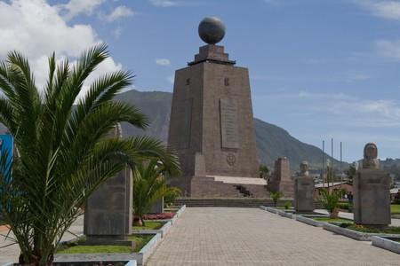 the great ecuator monument in quito, equador