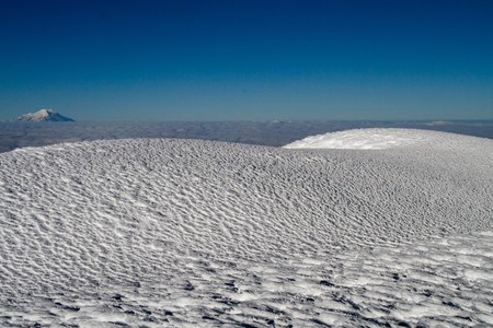 an untouched ice field on the summit of cotopaxi Stock Photo - 4220798