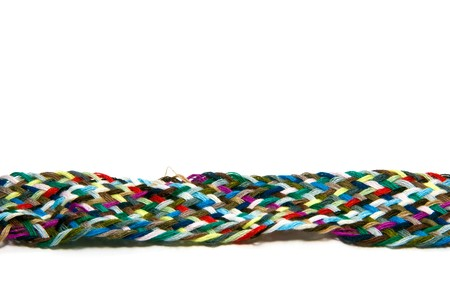 multicolored textile string Stock Photo