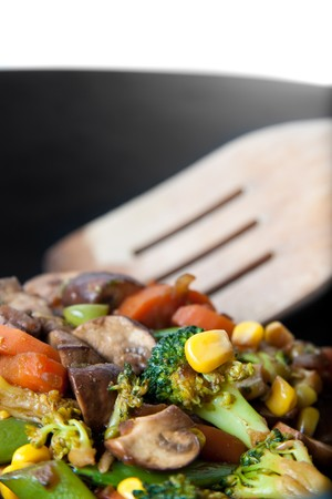 healthy vegetable in a wok - asian style Stock Photo