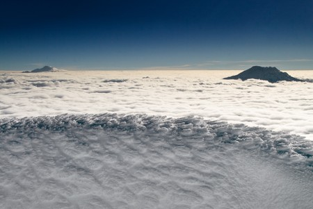 view from the summit of icy volcano cotopaxi, equador Фото со стока