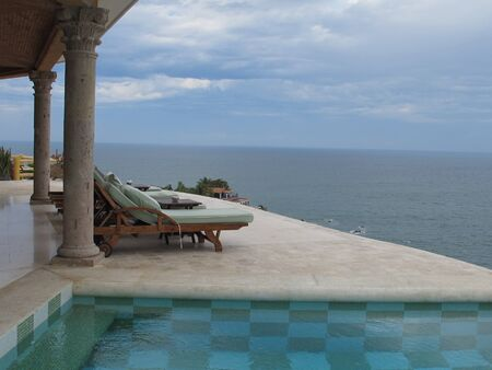 overlook: Patio view of the sea