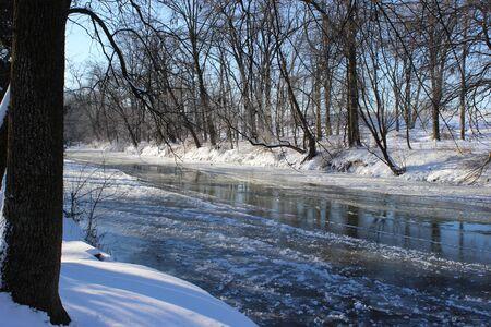 icy: winter icy creek Stock Photo