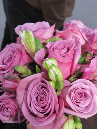 bridesmaid: lavender Bridesmaid bouquet