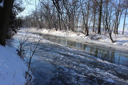 icy: icy river Stock Photo